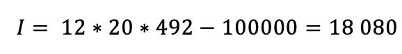 calcul montant interêts