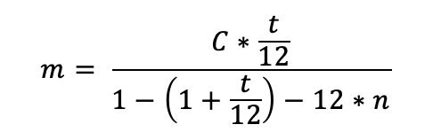 formule interet emprunt